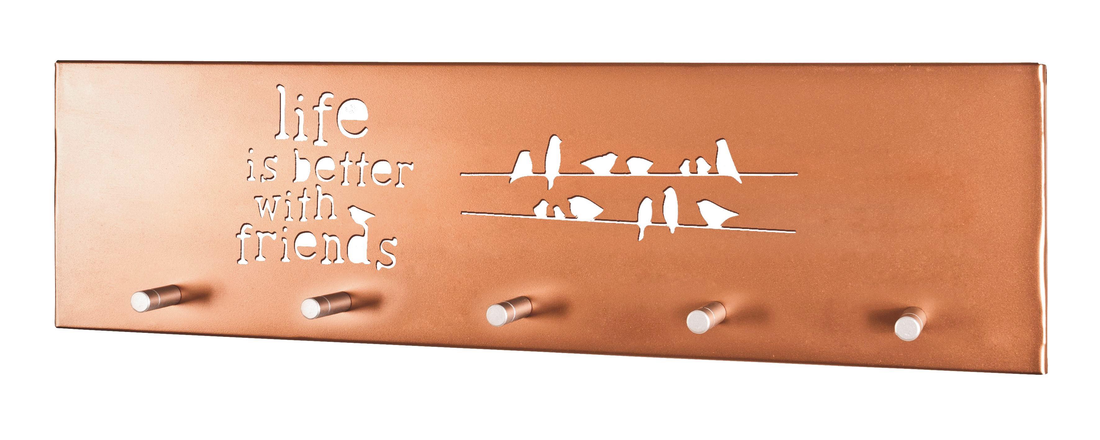VJEŠALICA ZIDNA - bakren, Design, metal (60/14/4cm)