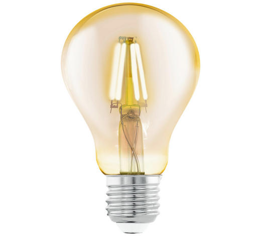 LED-LEUCHTMITTEL - Klar/Goldfarben, Basics, Glas (13,5cm)
