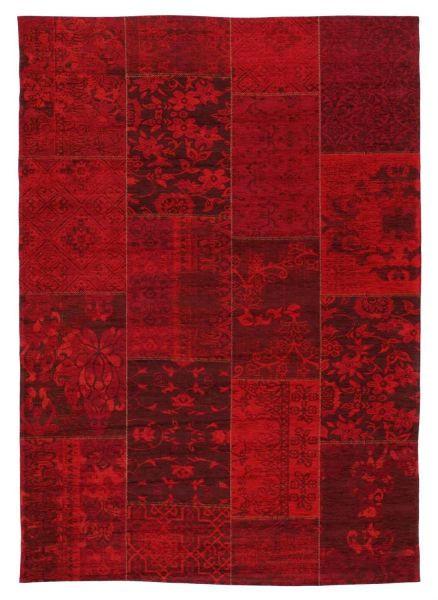 FLACHWEBETEPPICH  40/60 cm  Dunkelrot - Dunkelrot, Basics, Textil (40/60cm) - Novel