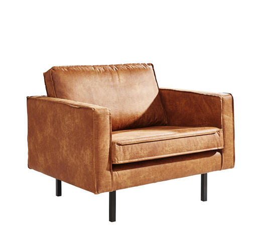 KŘESLO, textil, hnědá - černá/hnědá, Design, kov/textil (105/85/86cm) - Ambia Home