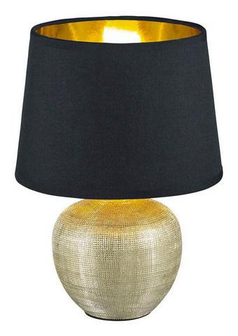 LAMPA STOLNÍ - černá/barvy zlata, Lifestyle, keramika (18/26cm) - Boxxx