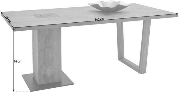 ESSTISCH in vollmassiv Kerneiche Anthrazit, Eichefarben - Eichefarben/Anthrazit, Design, Holz/Metall (240/95/76cm) - Valnatura
