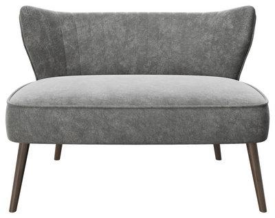 Playboy Zweisitzer-sofa samt anthrazit