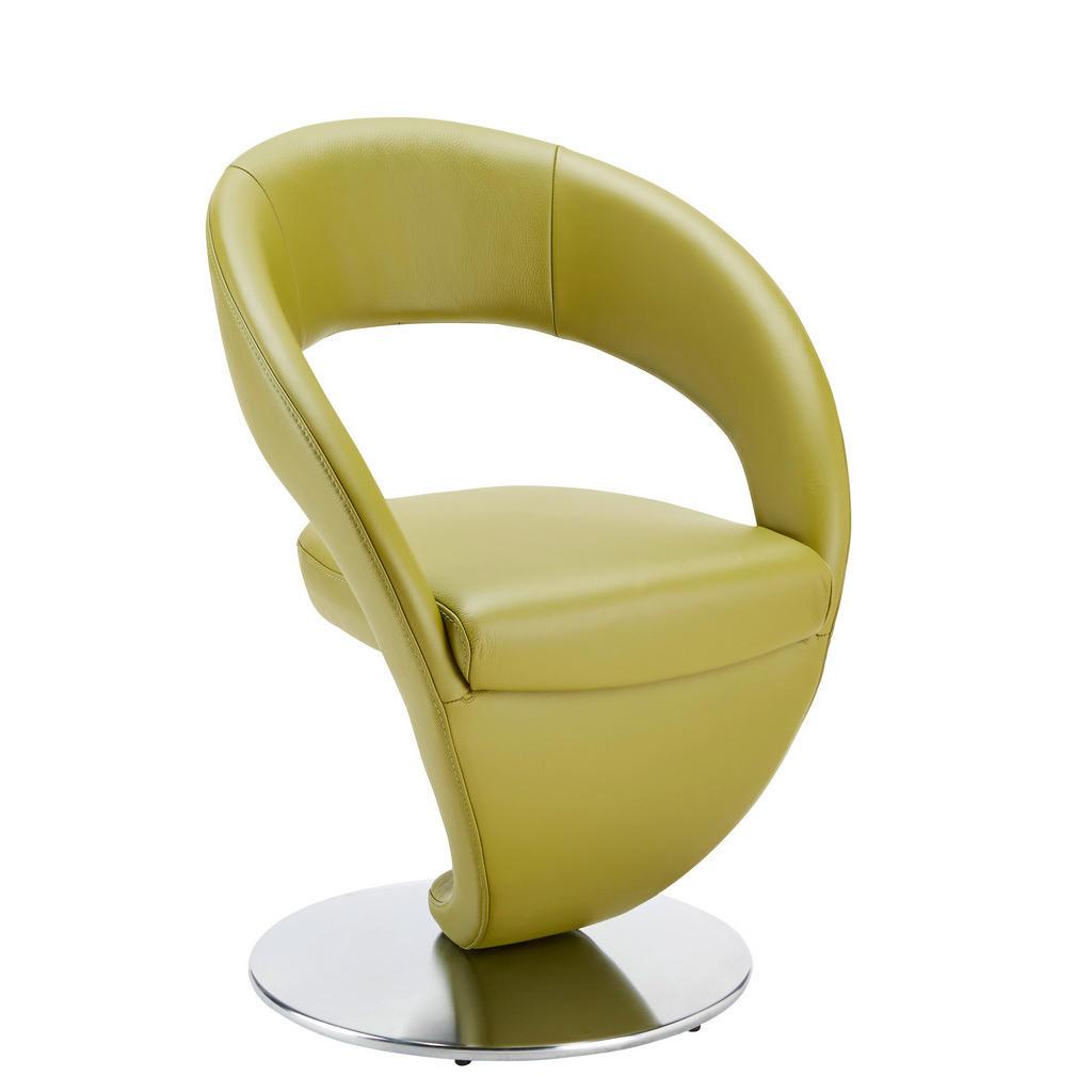 Moderano Stuhl echtleder grün