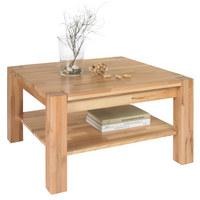 COUCHTISCH Kernbuche massiv quadratisch Buchefarben - Buchefarben, Design, Holz/Kunststoff (70/45/70cm) - LINEA NATURA