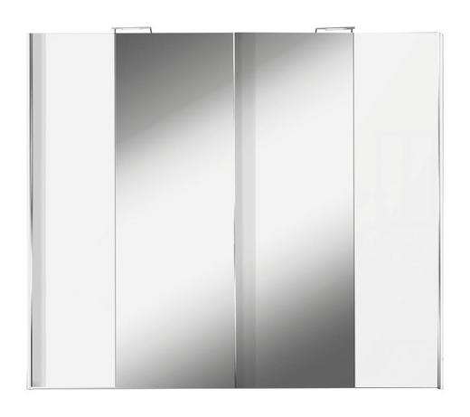 SCHWEBETÜRENSCHRANK 2-türig Weiß - Alufarben/Weiß, Design, Glas/Holzwerkstoff (250/216/68cm) - Hom`in