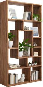 REGÁL - barvy sheesham, Lifestyle, dřevo (100/190/35cm) - LANDSCAPE