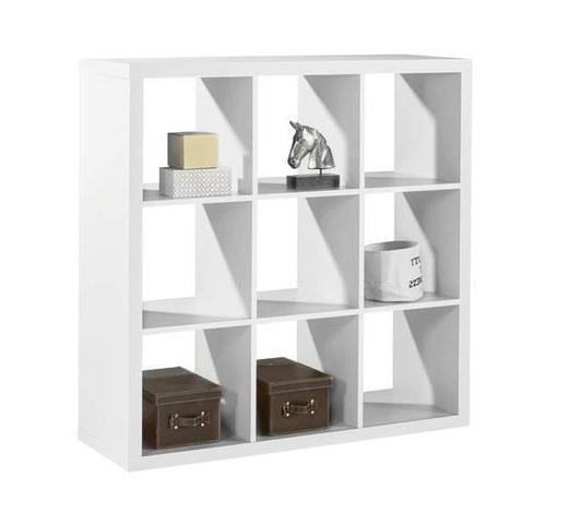 REGAL 112/112/38 cm bela  - bela, Design, leseni material (112/112/38cm) - Boxxx