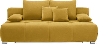 SCHLAFSOFA in Textil Gelb - Chromfarben/Gelb, Design, Kunststoff/Textil (212/72-90/108cm) - Hom`in