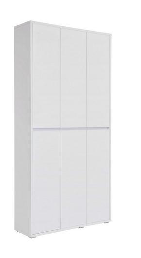 SKOSKÅP - vit, Klassisk, träbaserade material (100/210/34cm) - Xora