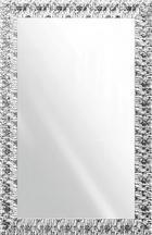 WANDSPIEGEL   70/110 cm - Silberfarben/Weiß, Design, Glas/Holz (70/110cm)