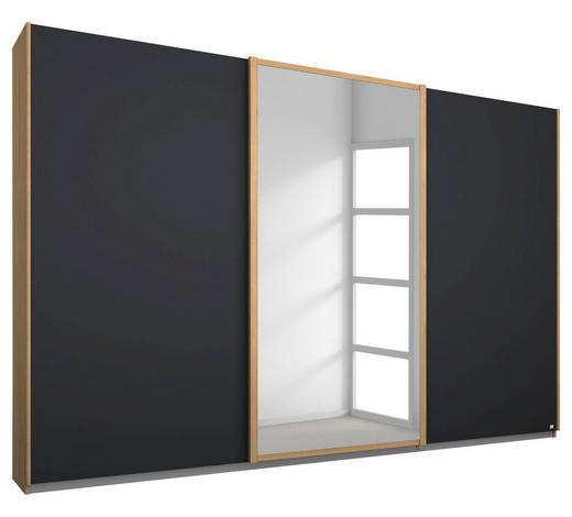 SCHWEBETÜRENSCHRANK in Anthrazit, Eichefarben - Eichefarben/Anthrazit, Design, Holzwerkstoff/Kunststoff (271/210/62cm) - Carryhome
