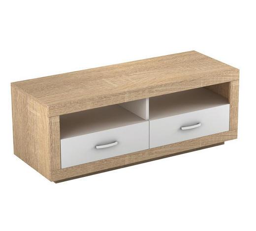 TV ELEMENT - bijela/boje hrasta, Design, drvni materijal/plastika (120/45/45cm) - Boxxx