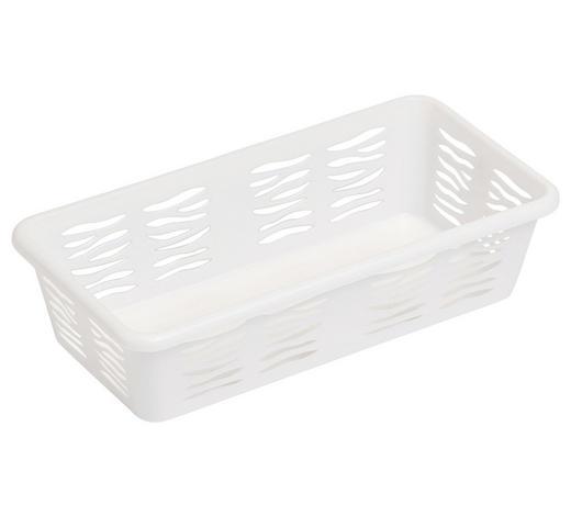 KORB - Weiß, KONVENTIONELL, Kunststoff (19,5/5/10cm) - Plast 1