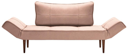 SCHLAFSOFA Rosa - Dunkelbraun/Rosa, Design, Holz/Textil (200/79/72cm) - Innovation
