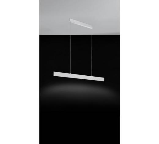 LED-HÄNGELEUCHTE   - Alufarben/Weiß, KONVENTIONELL, Kunststoff/Metall (118/5/150cm)
