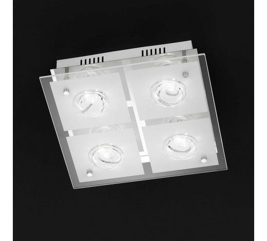 LED-DECKENLEUCHTE   - Chromfarben, Design, Glas/Metall (30/9/30cm)