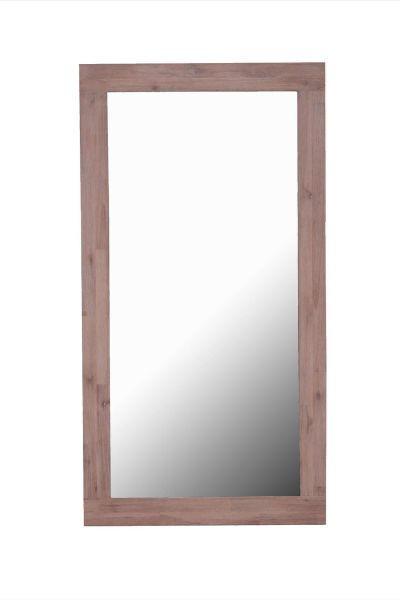 SPIEGEL  70/130/3 cm - Sandfarben/Klar, LIFESTYLE, Glas/Holz (70/130/3cm) - LANDSCAPE