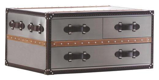 KOMMODE Braun, Silberfarben - Silberfarben/Braun, Design, Textil (97/47/66cm)