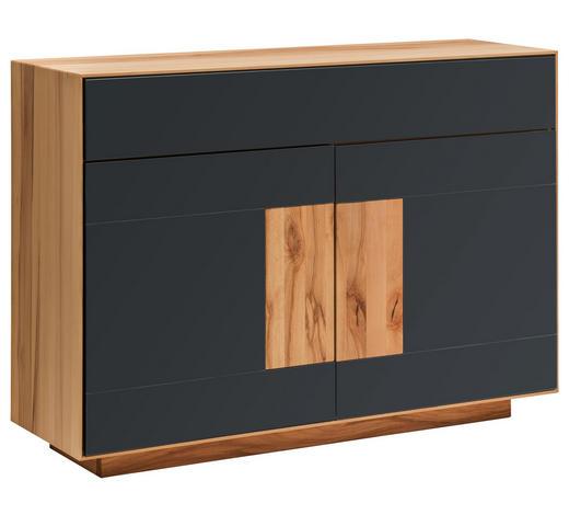 SIDEBOARD 120/87/40 cm  - Anthrazit/Buchefarben, MODERN, Glas/Holz (120/87/40cm) - Linea Natura