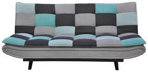 BÄDDSOFFA - mörkgrå/ljusblå, Design, metall/textil (194/90/100cm) - Ti`me