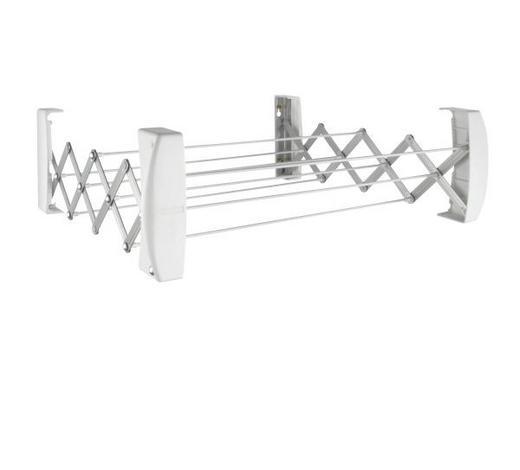 WANDWÄSCHETROCKNER - Weiß, Basics, Kunststoff (64/12,5/20,5cm) - Leifheit