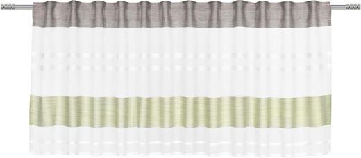 KURZGARDINE    50/135 cm - Schlammfarben/Grün, Basics, Textil (50/135cm) - Esposa
