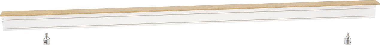 Vorhangschiene 200 cm - Eichefarben/Weiß, KONVENTIONELL, Kunststoff (200/5/7.5cm) - Ombra