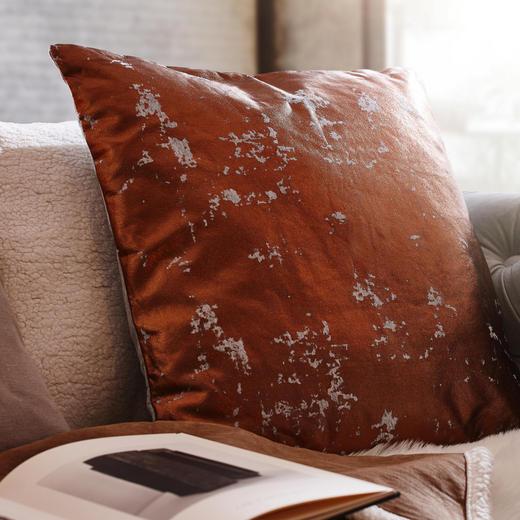ZIERKISSEN 50/50 cm - Bronzefarben/Grau, Design, Textil (50/50cm)