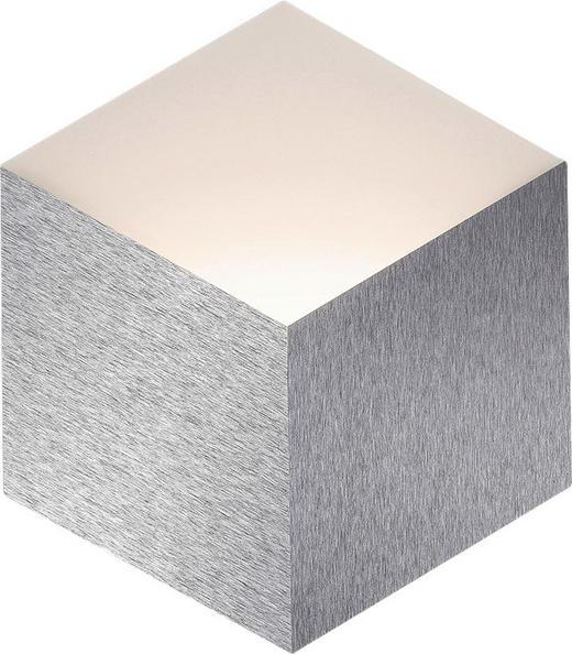 LED-WANDLEUCHTE - Alufarben, Design, Metall (30,6/27,0/3,2cm)