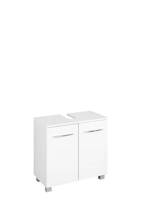 WASCHBECKENUNTERSCHRANK Weiß - Chromfarben/Silberfarben, Design, Holzwerkstoff/Kunststoff (60/59/35cm) - Carryhome