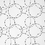 DEKOSTOFF per lfm blickdicht  - Schwarz/Weiß, Design, Textil (150cm) - Esposa