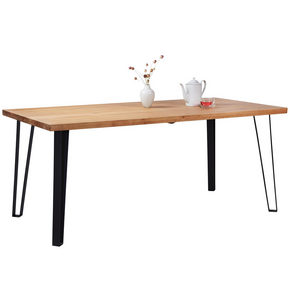 MATBORD - svart/ekfärgad, Natur, metall/trä (180/90/76cm) - Carryhome