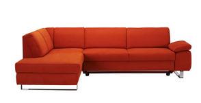 WOHNLANDSCHAFT in Textil Orange  - Chromfarben/Orange, Design, Textil/Metall (198/274cm) - Venda