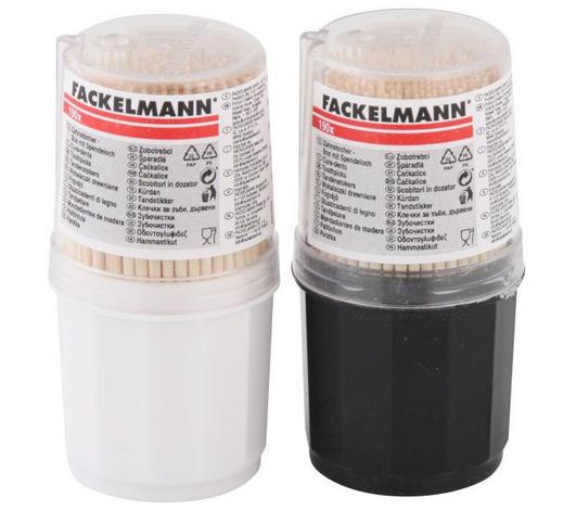 ZAHNSTOCHER - Schwarz/Weiß, Basics, Holz/Kunststoff (7,5/3,2/3,2cm) - Fackelmann