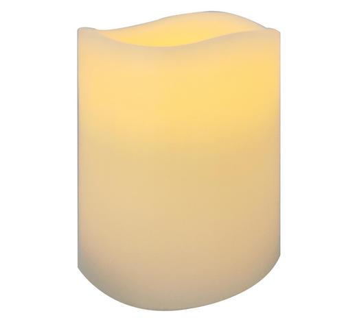 LED SVÍČKA - krémová, Basics, přírodní materiály (7,5/10cm) - Ambia Home