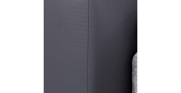 Boxspringbett mit Topper & H2/ H3 Matratze 160x200cm Hampton - Anthrazit/Alufarben, KONVENTIONELL, Textil (160/200cm) - Luca Bessoni