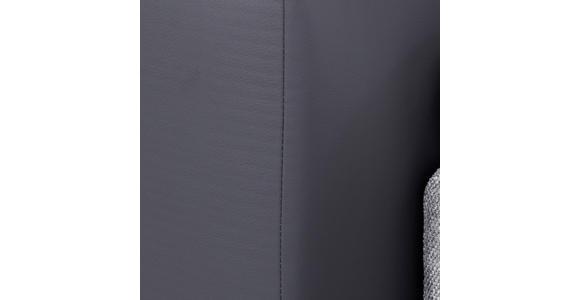 Boxspringbett mit Topper & Matratze H2 160x200cm Hampton - Anthrazit/Alufarben, KONVENTIONELL, Textil (160/200cm) - Luca Bessoni