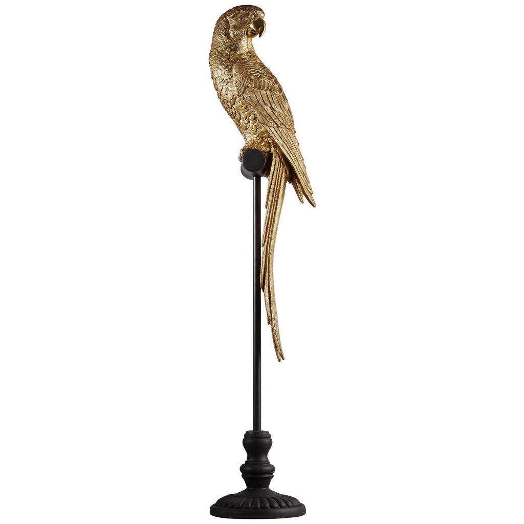 Ambia Home DEKOVOGEL, Schwarz, Gold   Dekoration > Figuren und Skulpturen > Tiere   Kunststoff   Ambia Home