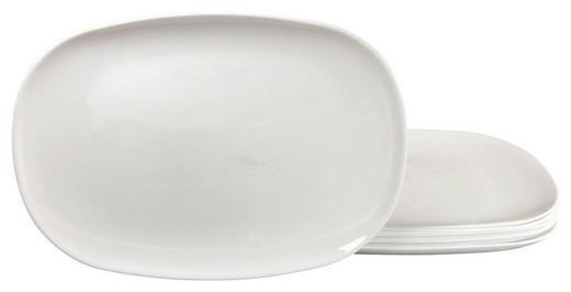 BURGERTELLERSET ITALIAN PARTY 35// cm - Weiß, Basics, Glas (35//cm) - Creatable