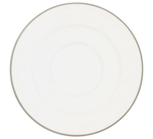 UNTERTASSE - Weiß/Grau, LIFESTYLE, Keramik (15,5/1,7/15,5cm) - Gmundner