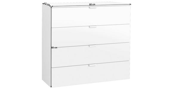 KOMMODE 80/80/42 cm  - Alufarben/Graphitfarben, Design, Holzwerkstoff/Metall (80/80/42cm) - Hom`in