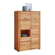 VISOKA KOMODA, bukev - bukev, Konvencionalno, kovina/leseni material (96/151/41cm) - Valnatura
