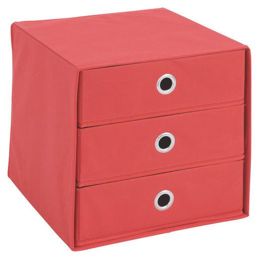 BOX Karton, Textil Rot - Rot, Design, Karton/Textil (31,5/32/31,5cm) - Carryhome
