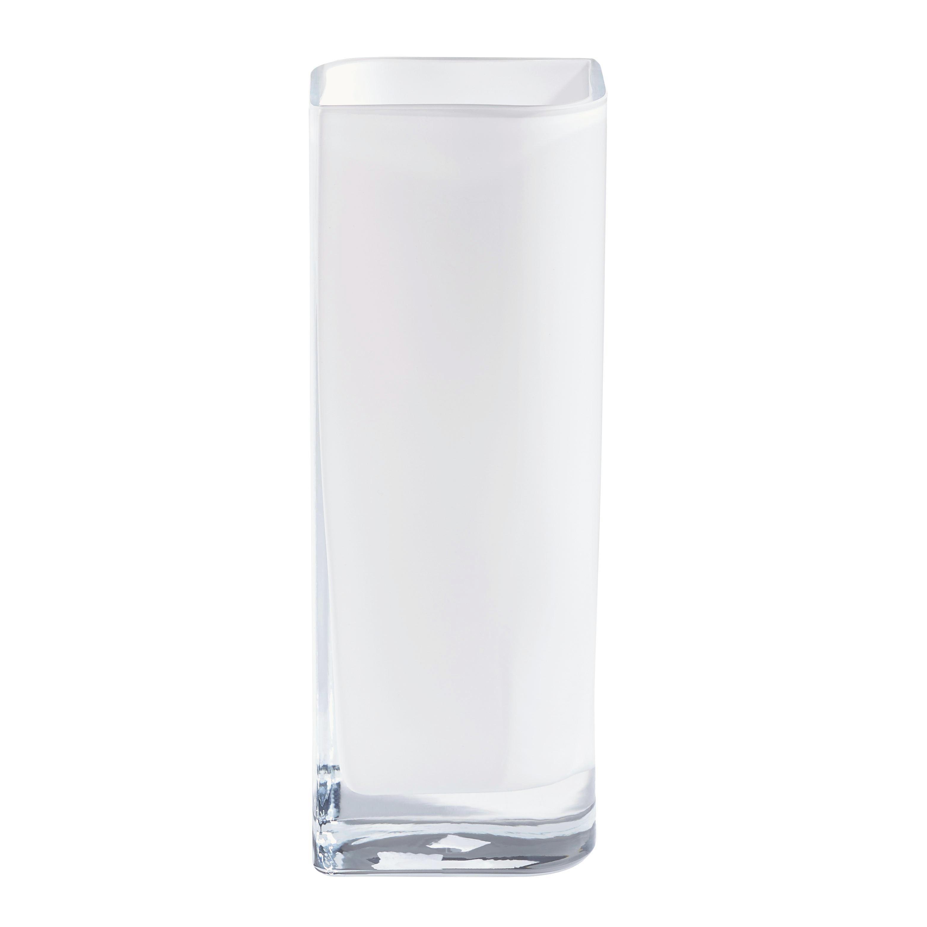 VAZA LUCCA, 30 CM - bela, Moderno, steklo (11/30/9cm) - LEONARDO