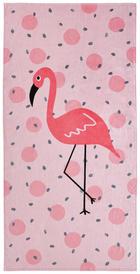 STRANDTUCH 90/180 cm - Rosa/Weiß, Design, Textil (90/180cm) - Esposa