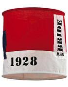 SJENILO SVJETILJKE - bijela/crvena, Trend, tekstil (28/26cm)