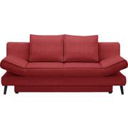 SCHLAFSOFA - Rot/Schwarz, Design, Textil/Metall (200/85/90cm) - Xora