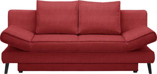 SCHLAFSOFA Rot  - Rot/Schwarz, Design, Textil/Metall (200/85/90cm) - Xora