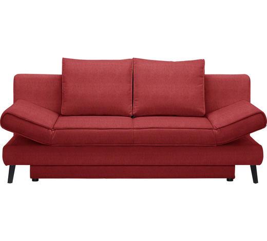 SCHLAFSOFA in Textil Rot - Rot/Schwarz, Design, Textil/Metall (200/85/90cm) - Xora